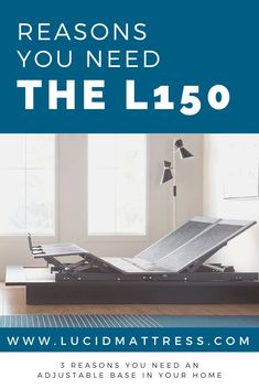 The L150 Adjustable Bed Base is an affordable entry point into a life of elevated sleep benefits. Here are three reasons why adding an adjustable bed base to your bedroom can help improve health, productivity, and entertainment all in one convenient and stylish package.