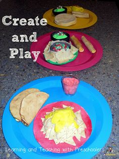 Make Your Own Play Food with Model Magic. Very cute!