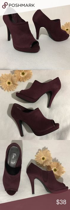 Fioni sexy burgundy heels Fioni sexy burgundy heels. SIZE: 7. Used only once. Excellent condition. I really love this shoes coz its very classy and i always get compliments on them. ✔️feel free to make a reasonable offer ✔️add another item to save 10% Fioni Shoes Heels