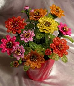 Zinnias by April Lewis
