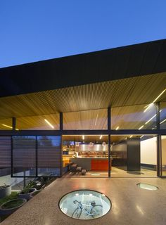 Special Futuristic Living Space Design: The Mullet House: Incredible The Mullet Home Design In Outdoor Space Decorated With Modern Ceiling A. Australian Architecture, Beautiful Architecture, Architecture Details, Modern Architecture, Floor Design, House Design, House Extensions, My Dream Home, Dream Homes