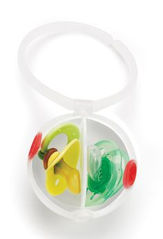 The Paci Egg...double pacifier holder