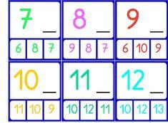 RECURSOS DE EDUCACIÓN INFANTIL: ¿QUÉ NÚMERO VA ANTES Y DESPUÉS? Maths, Math Workshop, Preschool Education, Index Cards