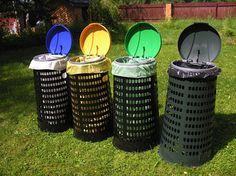 Segregujemy śmieci w ogrodzie