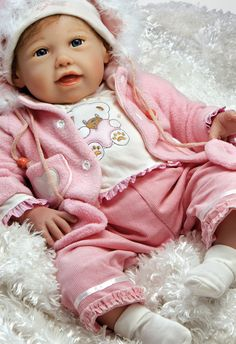 Realistic Baby Doll - Cuddle Bear Bella, 21 inch Soft Vinyl with Weighted Body