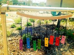 If your kids are too old to play with their old xylophone, invite the wind to use the pieces to create beautiful music instead.