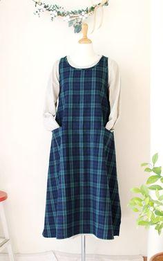 에이프런 원피스_블랙와치 : 네이버 블로그 Apron, Couture, Summer Dresses, Fashion, Skirts, Dress, Free Pattern, Moda, Fashion Styles
