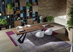 table de salle à manger en bois massif Carma par Sofalux