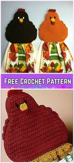 Crochet Chicken Towel Topper Free Pattern