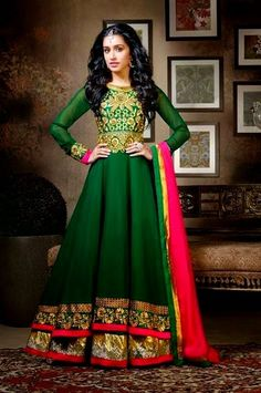 Shraddha Kapoor | Anarkali Dress Collection 2014 - She9