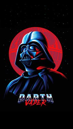 Darth Vader Retro Illustration - Star Wars Vader - Ideas of Star Wars Vader - Darth Vader Retro Illustration Darth Vader Star Wars, Anakin Vader, Darth Vader Artwork, Darth Vader Tattoo, Darth Vader Poster, Darth Vader Vector, Star Wars Fan Art, New Retro Wave, Retro Waves