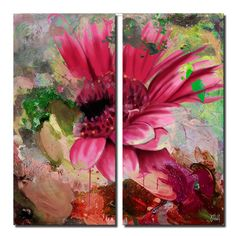Ready2hangart 'Painted Petals LXIV' by Ready2HangArt 2 Piece Graphic Art on Canvas Set Size: 40'' H x 40'' W x 1.5'' D