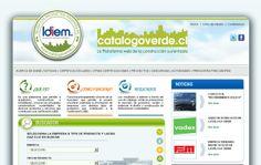 Nombre del proyecto: Diseño y desarrollo de sitio web Catálogo Verde Universidad de Chile.  Estado a la fecha: Implementado y Funcionando.  Descripción: Diseño y desarrollo de sitio web con administrador de contenidos y un catalogo de empresas con buscador avanzado de productos y servicios.