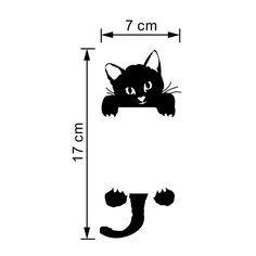 2016 New Cat Wall Stickers Light Switch Decor Decals Art Mural Baby Nursery Room vinilo pegatina pared Smile Removable Wall Stickers, Wall Decor Stickers, Cat Stickers, Diy Wall Decor, Cat Decals, Funny Cute Cats, Diy Funny, Kids Room Lighting, Cat Light