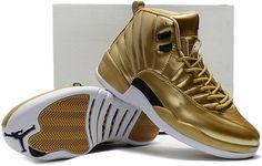 Nike Air Jordan 12 Pinnacle Metallic Gold Men Shoes, cheap Air Jordan XII  Retro, If you want to look Nike Air Jordan 12 Pinnacle Metallic Gold Men  Shoes, ...