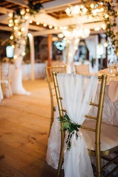 chair cover hire isle of man wooden step stool ladder 82 best diy sash ideas images sashes curly elegant wedding idea gold chiavari chairs draped in white tulle and greenery