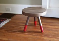 Campfire Stool by solidmfgco -- DIY + dip it in mustard yellow!