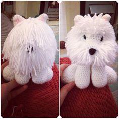 Crochet Westie dog Margo Lane