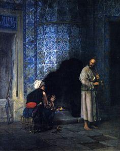 The Athenaeum - Conversation by the Fire (Jean-Léon Gérôme - )