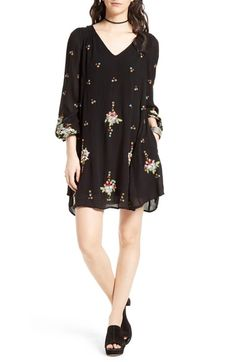 Free People Embroidered Minidress available at #Nordstrom