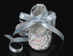The Natasha Ballerina Baby Girl Shoe, Slipper, Bootie in Blue, Infant, Handmade by pink2blue.. $30.00, via Etsy.