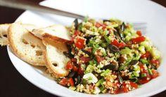 Aprenda a fazer a salada de sementes de abóbora e melão - Foto ilustrativa…