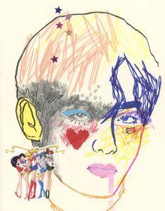 Bts Drawings, Art Drawings Sketches, Kpop Posters, Kpop Fanart, Daegu, Traditional Art, Collage Art, Cute Art, Art Inspo