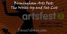 Birmingham Arts Fest: The Write-Up and Set-List