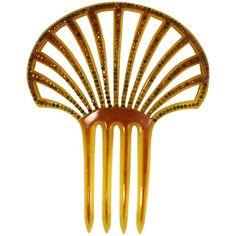1stdibs Art Deco Pierced Celluloid And Citrine Paste Comb Izz2QGzE