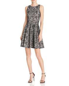 Aqua Bonded Lace Dress