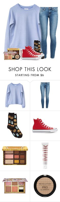 """On the way to my cousins soccer game⚽️"" by southernstruttin ❤ liked on Polyvore featuring Paige Denim, HOT SOX, Converse, MILK MAKEUP and Benefit"