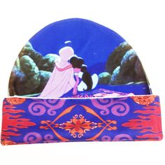 Aladdin and Jasmine hat with magic carpet brim. Hat is also stretchy. ★Around 23 inches unstretched head circumference★Around 9 i Disney Outfits, Disney Clothes, Disney Fashion, Aladdin And Jasmine, Princess Jasmine, Beanie Hats, Beanies, Disney Mickey Ears, Warm Winter Hats