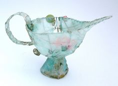 mixed media piece by Priscilla Jones Paper Mache Crafts, Cup Art, Wire Art, Diy Paper, Deco, Textile Art, Altered Art, Mixed Media, Arts And Crafts
