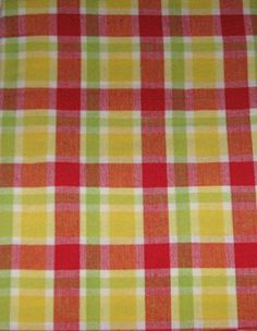 Red, Yellow, And Green Plaid Cotton Tablecloth (60x84 Inches Oblong) Ashley  Http