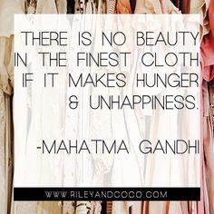 Say it, Ghandi.  #REUILDglobally #socialenterprise #fashiontakesaction