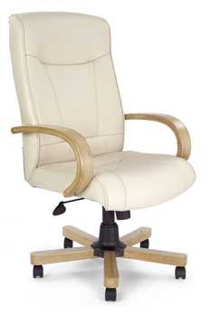 Furniture123 Leather Deluxe 4750 Office Chair in Oak and Cream A cream leather and oak office chair, you ask? Exactly that. The Leather Deluxe 4750 is an http://www.comparestoreprices.co.uk/office-chairs/furniture123-leather-deluxe-4750-office-chair-in-oak-and-cream.asp