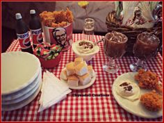 KFC inspired food made from polymer clay by Chynadoll Creations