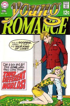 Young Romance 160, July 1969, cover by Vince Colletta.