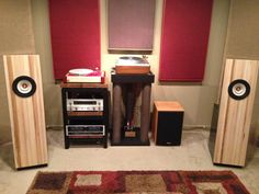 DIY open baffle speaker built from Decware's plans, and utilize the Tang Band W8-1808 driver.