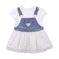 This item starts shipping in May Made from skin-friendly organic cotton Comfortable clothing, no irritating tags or seams For babies in sizes: months mo… Printed Denim, Heart Print, Comfortable Outfits, Overall Shorts, Organic Cotton, Overalls, Girl Outfits, 3d, Digital