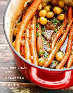 This Chuck Roast recipe takes just minutes to prep and has the winning flavor combination of Balsamic and Dijon to make it extra special.