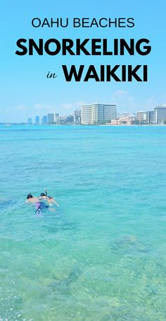One of the best beaches in Waikiki for snorkeling. For US beaches in Oahu Hawaii, activities like swimming and snorkeling in Waikiki at Queen's Beach on Oahu! Best Oahu beaches give you things to do with nearby hiking trails, food, and shopping. USA travel destinations for bucket list for world adventures when on a budget! So put Waikiki snorkeling on the Hawaii itinerary! Packing tips for snorkeling gear with what to wear in Hawaii too. Hawaii vacation. #hawaii #oahu #waikiki