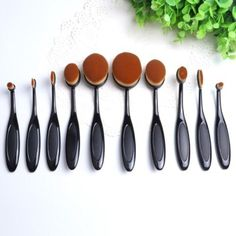 StudioWorks 10 Pc Best Seller Beverly Hills Collection Luxurious Ultra Soft Oval Foundation Concealer Powder Makeup Brush Set -- Learn more by visiting the image link. (This is an affiliate link) #ToolsAccessories