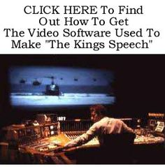 "Get The Video Software Used To Make ""The Kings Speech"" http://www.ebay.co.uk/itm/Get-Video-Software-Used-Make-The-Kings-Speech-/390329553205?pt=LH_DefaultDomain_0=item5ae1745135"