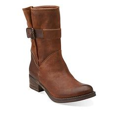 Mezze Game in Taupe Leather - Womens Boots from Clarks