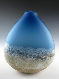 Shoreline: Daniel Scogna: Art Glass Vessel - Artful Home