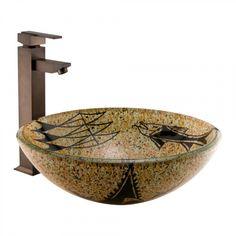 Archaic Design Glass Vessel Sink - Bathroom Sinks - Bathroom