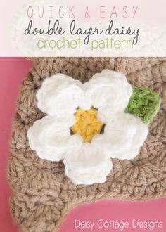 Easy Daisy  - Free Crochet Pattern