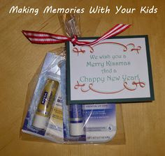 We Wish You a Merry KISSmas and a CHAPPY New Year - easy and inexpensive gift idea