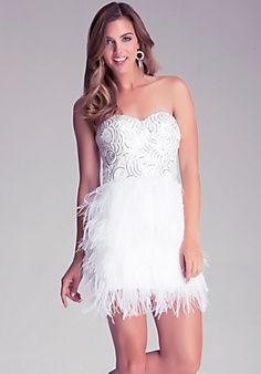 Bach party!!! Isis Sequin Feather Dress Style #185146